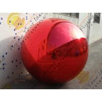 Buy cheap Inflatable Helium Advertising Balloon , Pvc Red Mirror Balloon from wholesalers