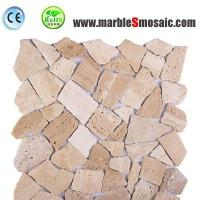 Buy cheap Xiamen Professional Marble Mosaic Factory Supply  Beige Stone Random Mosaic Tile products to floor and wall from wholesalers