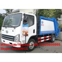 Buy cheap 2017s best seller FAW 4x2 garbage compactor truck for sale, Factory sale High quality FAW brand compacted garbage truck from wholesalers