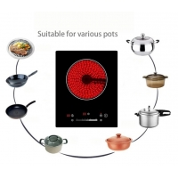 Buy cheap Simple Controls Touch Radiationless Single Burners Vitro Ceramic Hob from wholesalers