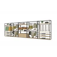 Buy cheap Retro Exquisite Clothing Display Showcase With Steel Wood Combination Structure product