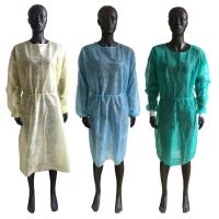 Buy cheap Soft Disposable Isolation Gown , Disposable Ppe Gowns Elastic Cuffs OEM Service product