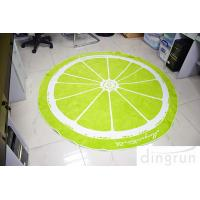 Buy cheap Jacquard Round Beach Towels Luxury Size Lemon Lolor 180*180cm from wholesalers