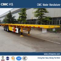 Buy cheap tri-axle 40 foot flat bed semi trailers with container locks from wholesalers