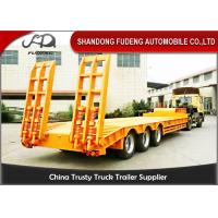 Buy cheap 60T - 80T Lowboy Semi Trailer For Carrying Steel Coil , Carbon Steel Lowboy Trailer  from wholesalers