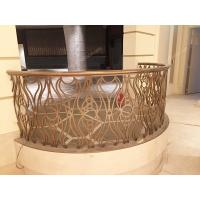 Buy cheap Laser Cut Rose Golden Balcony Stainless Steel Railing For Villa from wholesalers