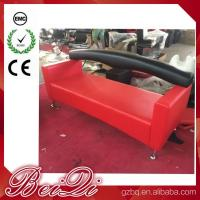 Buy cheap 3 Seat Waiting Area Sofa Red Customers Chair Used Barber Shop Furniture Cheap Waiting Room Chair product