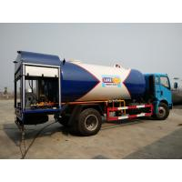 Buy cheap HOWO 4X2 12000 Liters LPG Gas Truck , 12cbm 6 Tons Bobtail Propane Truck from wholesalers