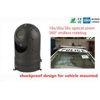 Buy cheap Auto Tracking 18X Optical Zoom Police Car Cameras Speed 1.3MP AHD PTZ Camera product