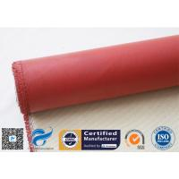 Buy cheap 750 Degree Silicone Coated Fiberglass Cloth Heat Protection Fireproof Covers from wholesalers