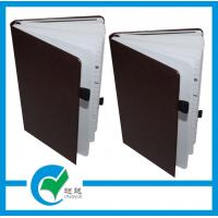 China Genuine Leather Hardcover Paging Tag OEM Custom Printed Notebook For Daily Record Using on sale