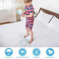 Buy cheap Zippered Anti Mite Mattress Cover Waterproof For Mattress Protector Bed Sheet Hotel Mattress Zipper Bed Cover from wholesalers