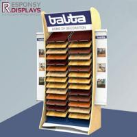 Buy cheap Many Layers Large POP Floor Metal And Wood Ceramic Tile Display Stand from wholesalers