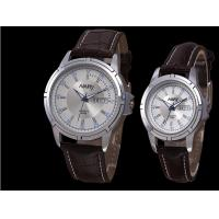 Buy cheap 6088 wristwatch proofwater leather watch with date and day.double calender from wholesalers