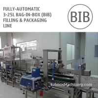 China Fully-automatic 5-10-20 Litre BiB Filling Machine Bag in Box Cartoning Line on sale
