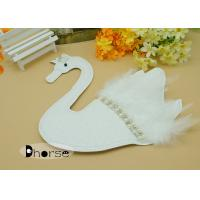 Buy cheap Handwork Sew On White Swan Beaded Appliques For Clothing with White Feather from wholesalers