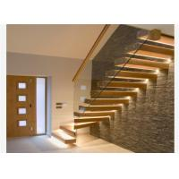 China Custom glass stairs railing floating staircase decorative standoff glass railing stair on sale