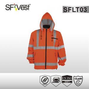 Buy cheap 2  pockets  polyester fleece Hi Vis Sweatshirt with zipper at the closure EN ISO 20471 product