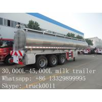 Buy cheap high quality and competitive price 45,000L stainless steel milk tank for sale from wholesalers