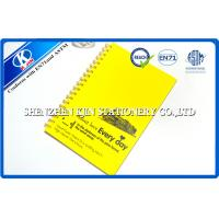 Buy cheap Recycled Kraft Paper Notebook / A4 Yellow Spiral Notebook for Children from wholesalers