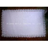 China Rectangular Crochet Table Cover Floral Maginal , Handmade Crochet Lace Tablecloth on sale