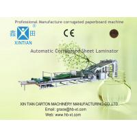 Buy cheap Automated Packaging Flute Laminating Machine ISO-9001 With High-Strength from wholesalers