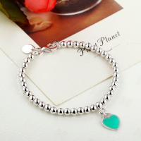 Buy cheap 925 sterling silver bead chain enamel love bracelet wholesale from Wholesalers