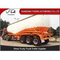 Buy cheap Carbon Steel V shape Bulk cement tanker trailers 3 axles silo cement carrier trailers from wholesalers