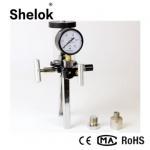 Buy cheap Handheld 1/4NPT 0~1.6MPa air oil hand pump pressure calibrator from wholesalers