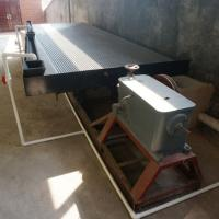 Buy cheap Gold mining equipment gravity separator fiber glass gold Shaking Table for gold ore recovery from wholesalers