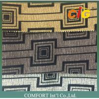 Buy cheap Polyester Flocking Sofa Upholstery Fabric , Black And White Upholstery Fabric product