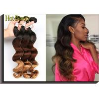 Buy cheap No Dye Ends 5A Grade Peruvian Virgin  Hair Weft 3 Tone Loose Wave 12-28 from wholesalers