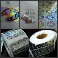 Buy cheap security sticker,hologram sticker,hologram label,security label from wholesalers