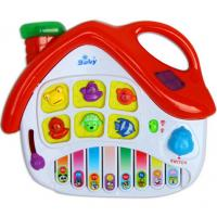 Buy cheap Small House Baby Musical Educational Toy Electronic Piano , Red / Blue from wholesalers