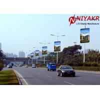Buy cheap 3G 4G Wireless Creative LED Display P6 Pole Outdoor Street LED display from wholesalers