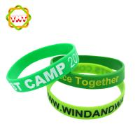 Buy cheap Fashion Debossed Silicone Wristband With Color Filled from wholesalers