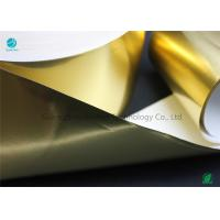 Buy cheap Shiny Glossy Gold Transfer Aluminium Foil Paper With Environmental Materials In 65gsm from wholesalers
