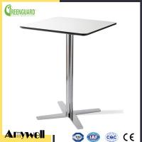 Quality Amywell high density waterproof durable Phenolic HPL outdoor round garden table for sale
