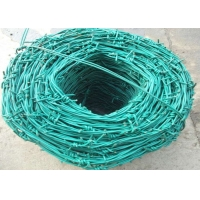 Buy cheap Security 0.4mm PVC Coated  SWG8 Coiled Razor Wire from wholesalers