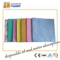 Buy cheap Environmentally Friendly Household Cleaning Cloths Wipes Pink / Orange / Blue from wholesalers