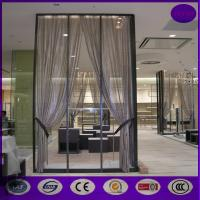 Buy cheap Silver color Aluminum metal curtain metal chain link fly pest insect door screen curtain from wholesalers