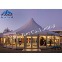 UV Resistant Large Tents For Outdoor Events Transparent Cover Aluminum Frame