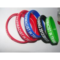 Buy cheap Silicone wristband , audlt silicone band  with custom logo , red/ blue /green black etc pantone color from wholesalers