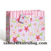 Buy cheap Pink Floral Gift Bag with Organza Ribbon KR211-1 from wholesalers