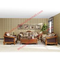 Buy cheap European Country Style Classic Solid Wooden Sofa Made by Italy Leather and Fabric Sofa Set from wholesalers