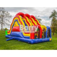 Buy cheap 3 Lane Alternate Big Inflatable Obstacle Course With 0.55mm Pvc Material from wholesalers