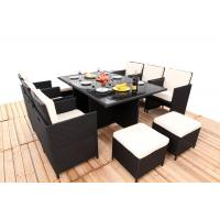 Buy cheap Promotion Rattan Furniture 11PCS Indoor / Outdoor Rattan Dining Sets Set With Cushion from Wholesalers