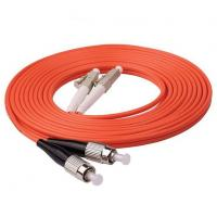 Buy cheap Durable Multimode Fiber Optic Cable 1m 3ft LC UPC To FC UPC Duplex 2.0mm PVC OM1 from wholesalers