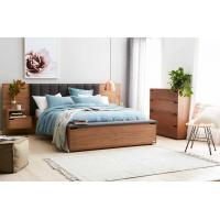 Buy cheap Hotel Room Furniture Luxurious Fabric Upholstered Headboard Storage with Foot Box and Nighstand in Guestroom sets product