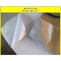 Thermal insulation on double aluminum foil fiberglass with for Fiberglass thermal insulation